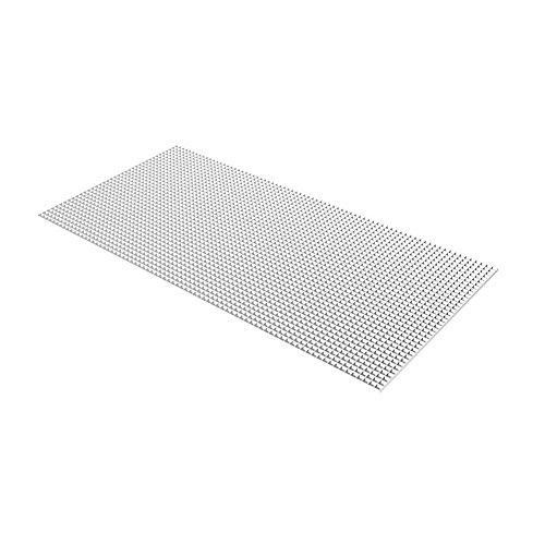 Grille blanche en panneaux alvéolés de 60 cm x 121 cm (23,75 po x 47,75 po)