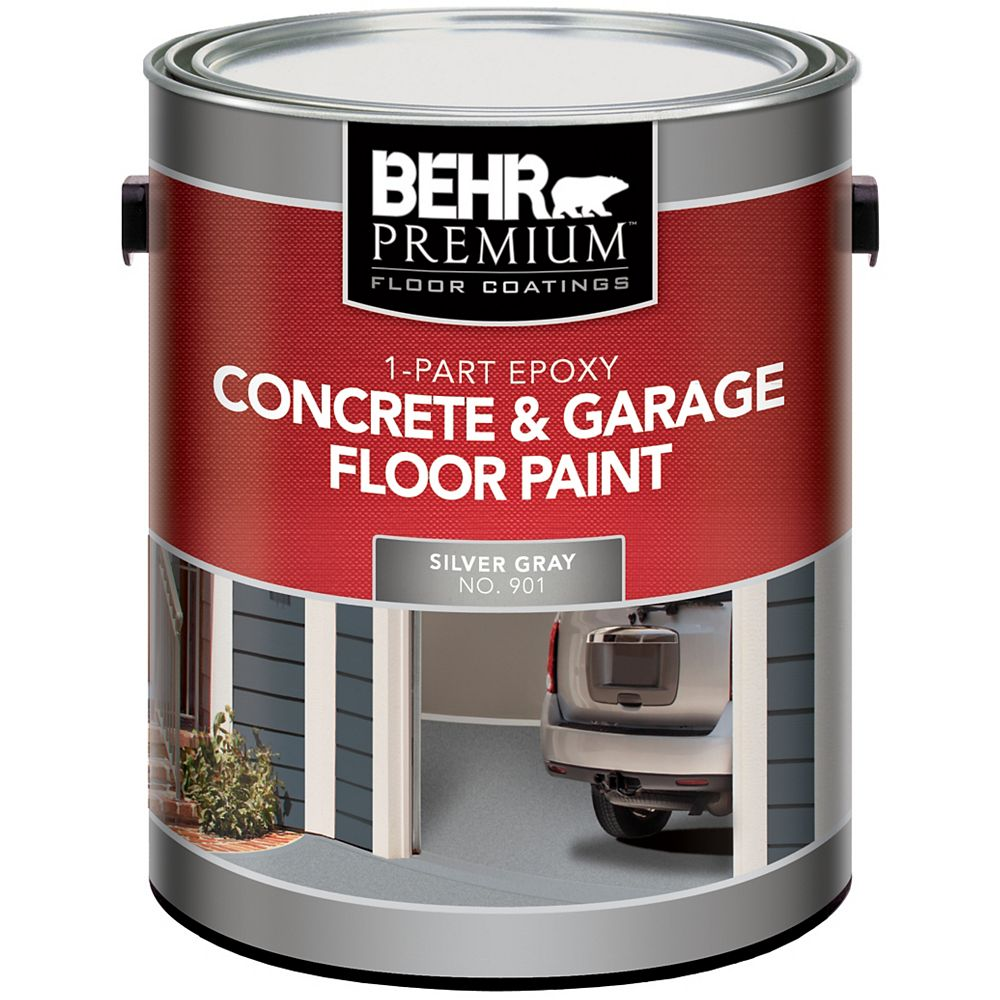 Behr Premium 1 Part Epoxy Concrete Garage Floor Paint Silver Gray 3 79l The Home Depot Canada