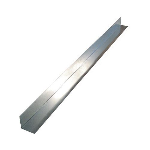 Peak Products Flashing Angle, 4 inch  x 4 inch  x 10 feet - Mill Galvanized