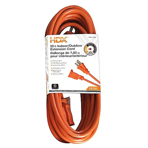 25 ft. 16-Gauge Indoor/Outdoor Extension Cord