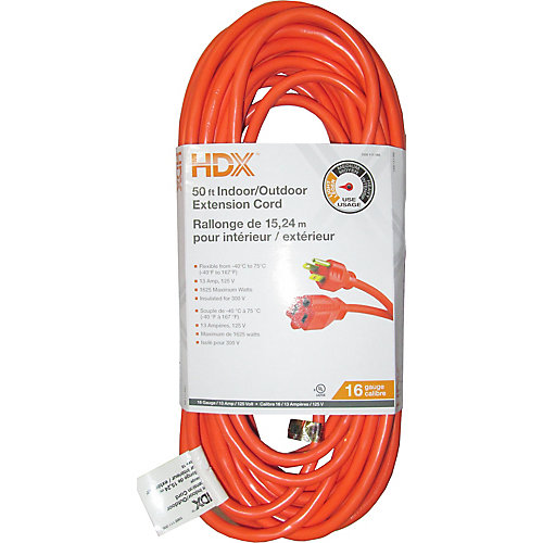 50 ft. Indoor/Outdoor Extension Cord