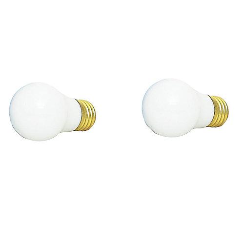 60W Fan & Garage Door White Bulb (2-Pack)