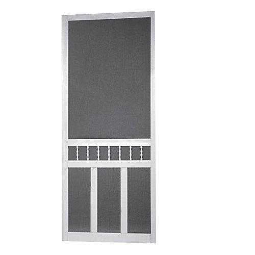 32-inch x 80-inch Waccamaw Solid Vinyl Screen Door