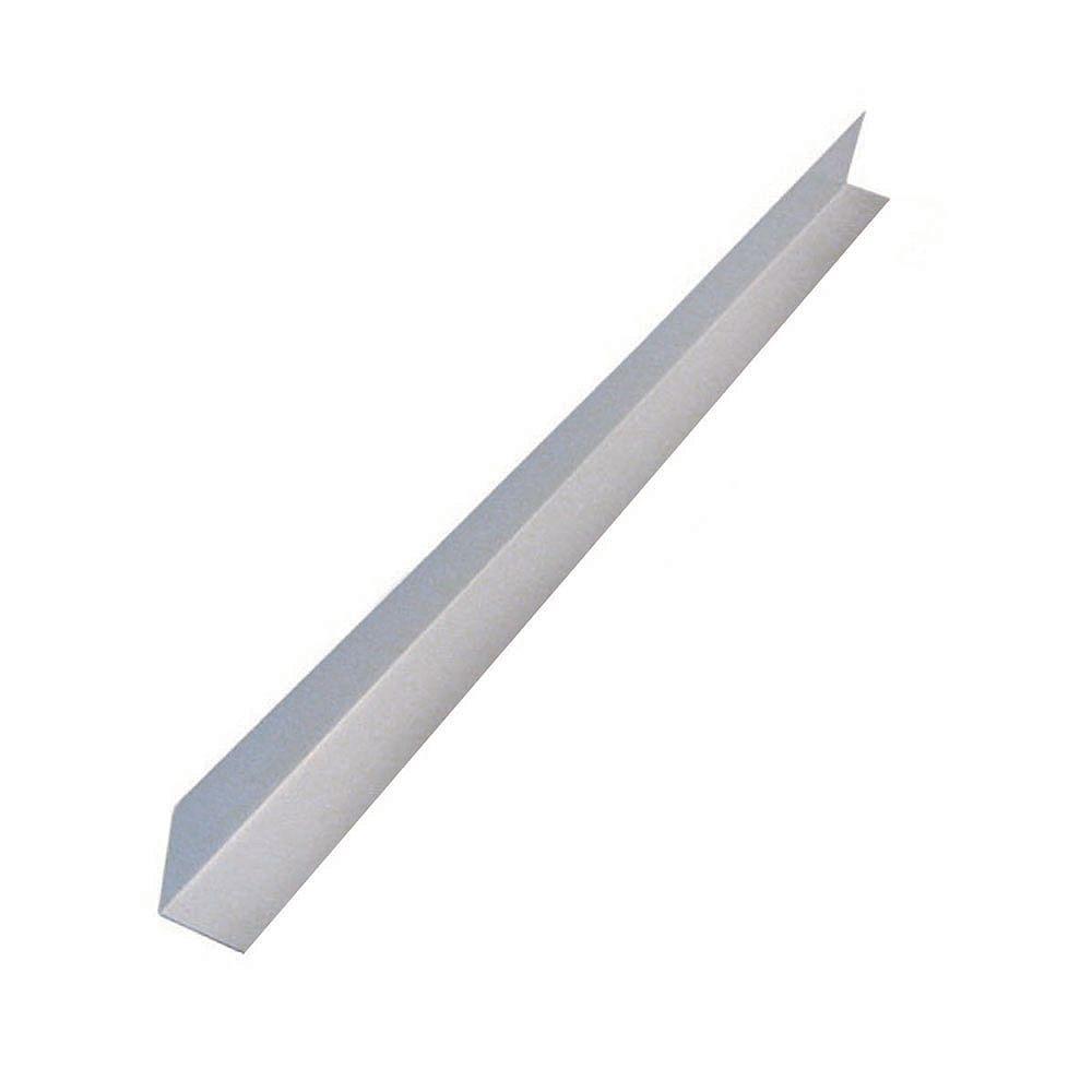 Peak Products Flashing Angle, 4 inch  x 4 inch  x 10 feet - White Galvanized