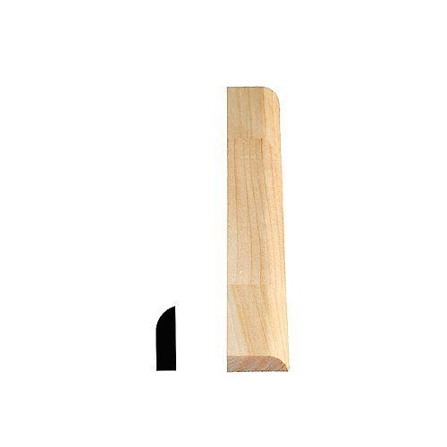 Alexandria Moulding Heurtoir de porte jointé, pin 5/16 x 1 1/16 (Prix par pied)