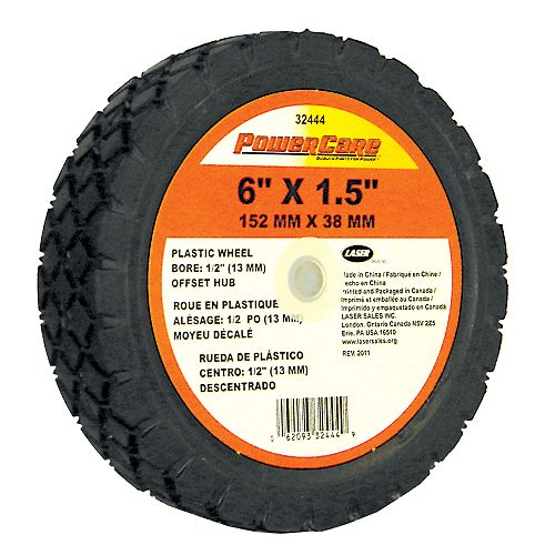 6-inch x 1.50-inch Wheel with 1 3/8-inch Offset Hub for Lawn Mowers