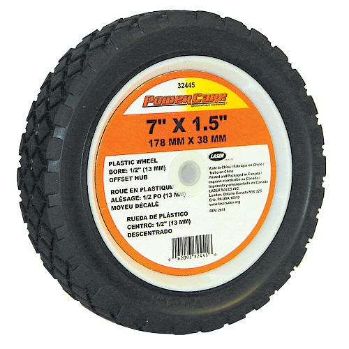7-inch x 1.50-inch Wheel with 1 5/8-inch Offset Hub for Lawn Mowers