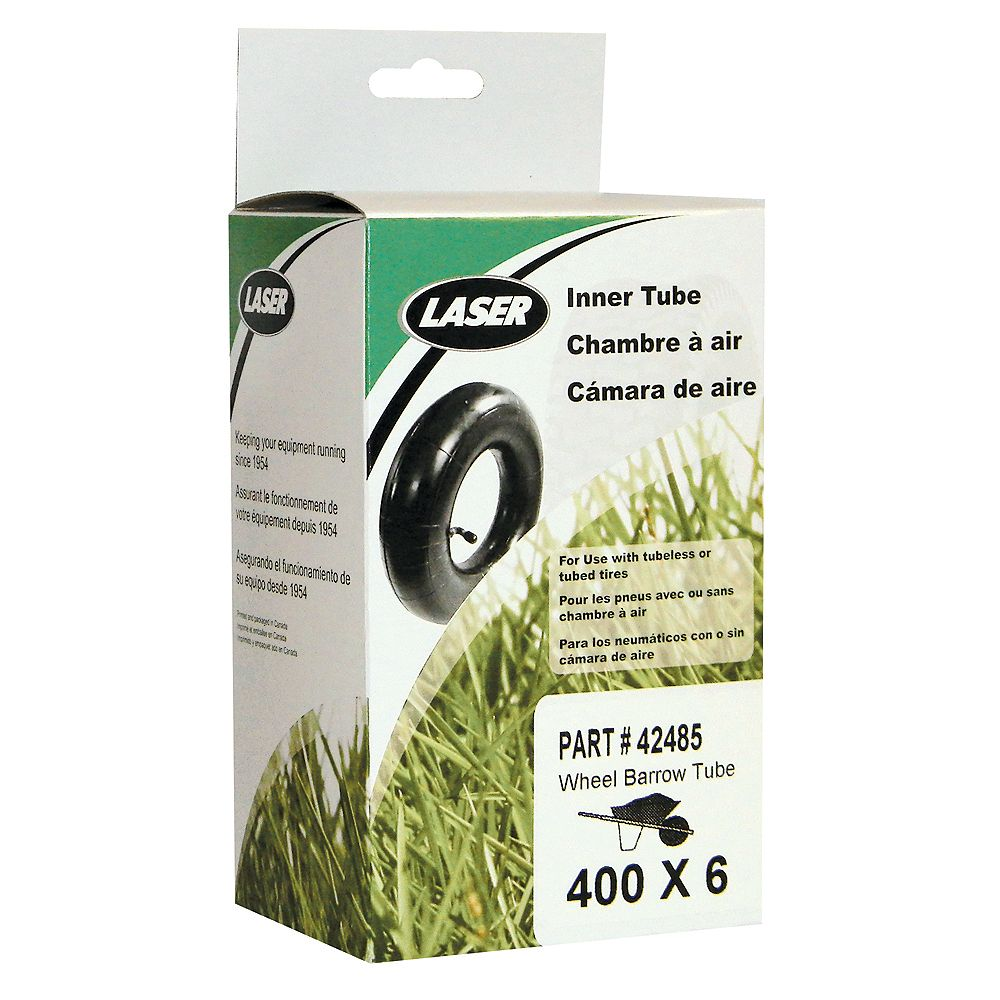 Laser 400 x 6 Inner Tube for Wheelbarrow Tires
