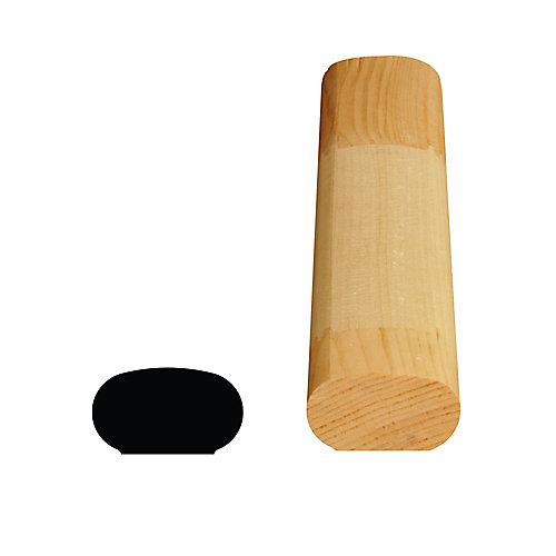 Main courante jointée, en pin 1 1/4 x 2 1/8 (Prix par pied)