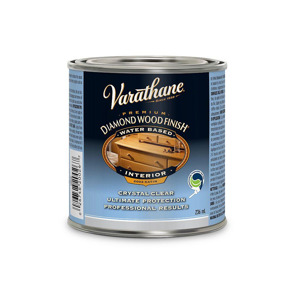 Varathane Diamond Finish Premium Diamond Wood Finish For Interior, Water-Based In Satin Clear, 236 mL