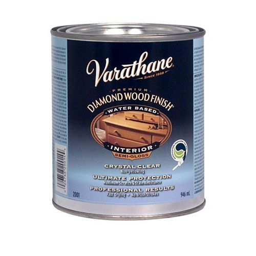 Premium Wood Finish for Interior, Water-Based in Semi-Gloss Clear, 946 mL