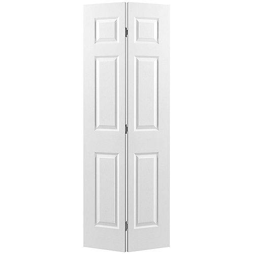 30-inch x 80-inch 6-Panel Bifold Door