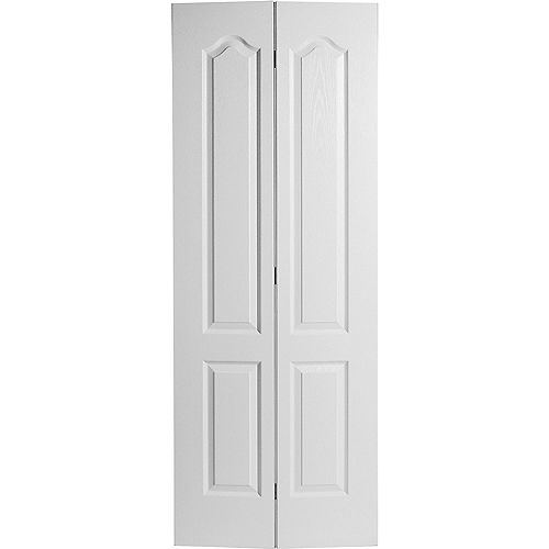 Masonite 30-inch x 80-inch 2-Panel Arch Top Textured Bifold Door