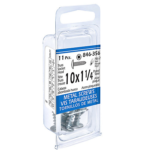 10x1-1/4 Vis Taraudeuses Truss Creuse