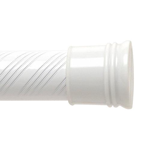72-inch Swirl Tension Rod - White
