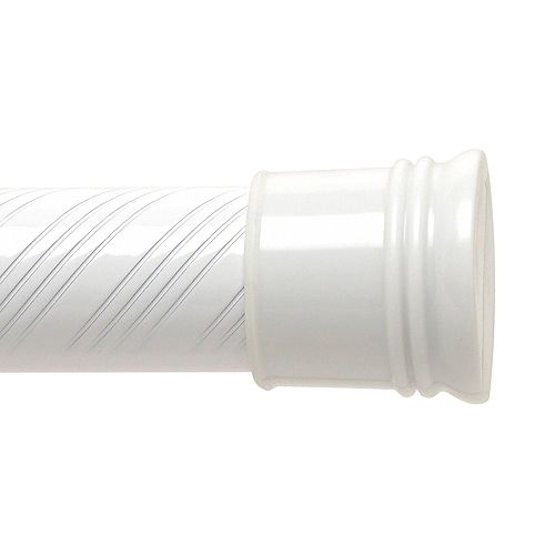 72-inch Swirl Tension Rod - White