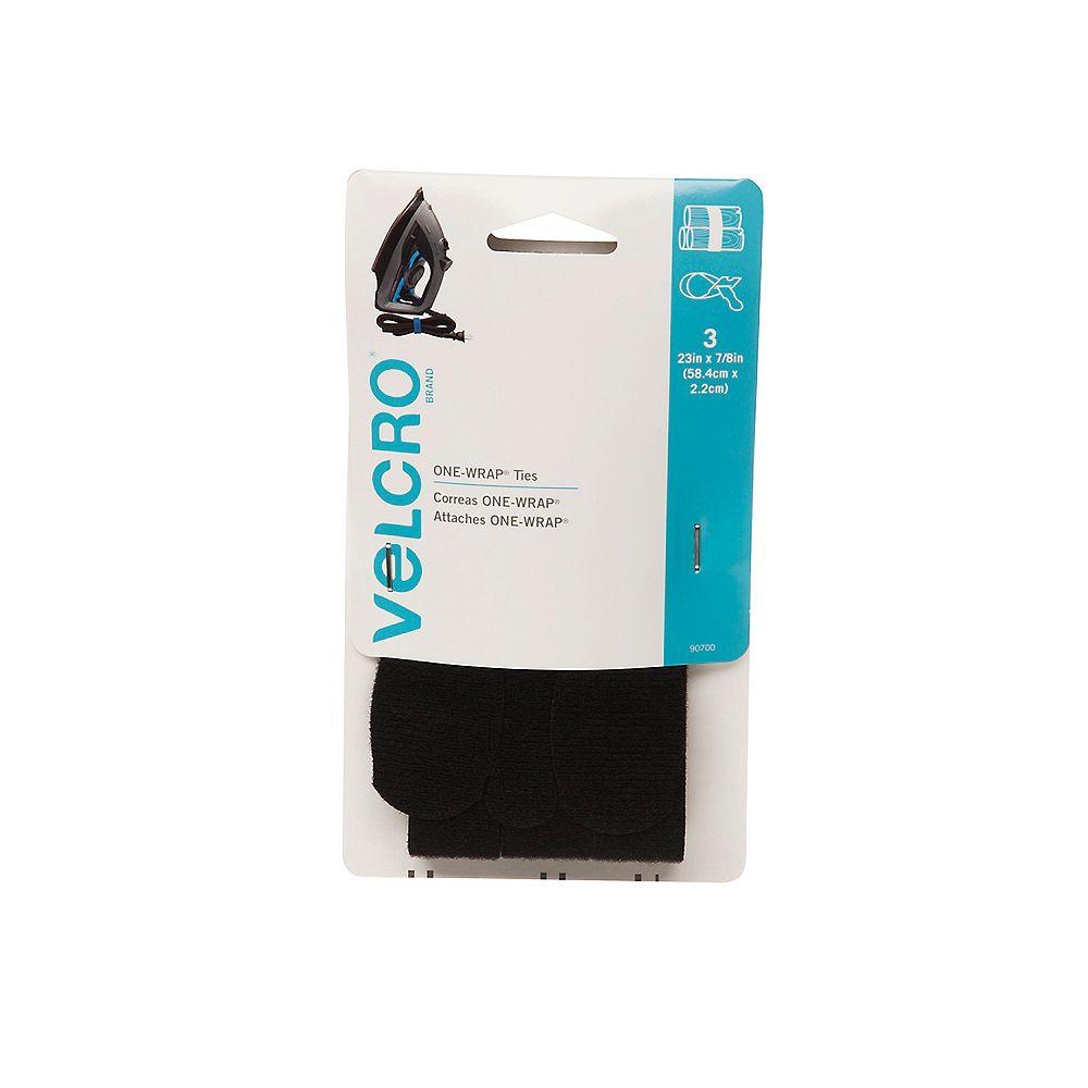 VELCRO Une courroie d'emballage Velcro 23 po. X 7/8 po. Pqt de 3
