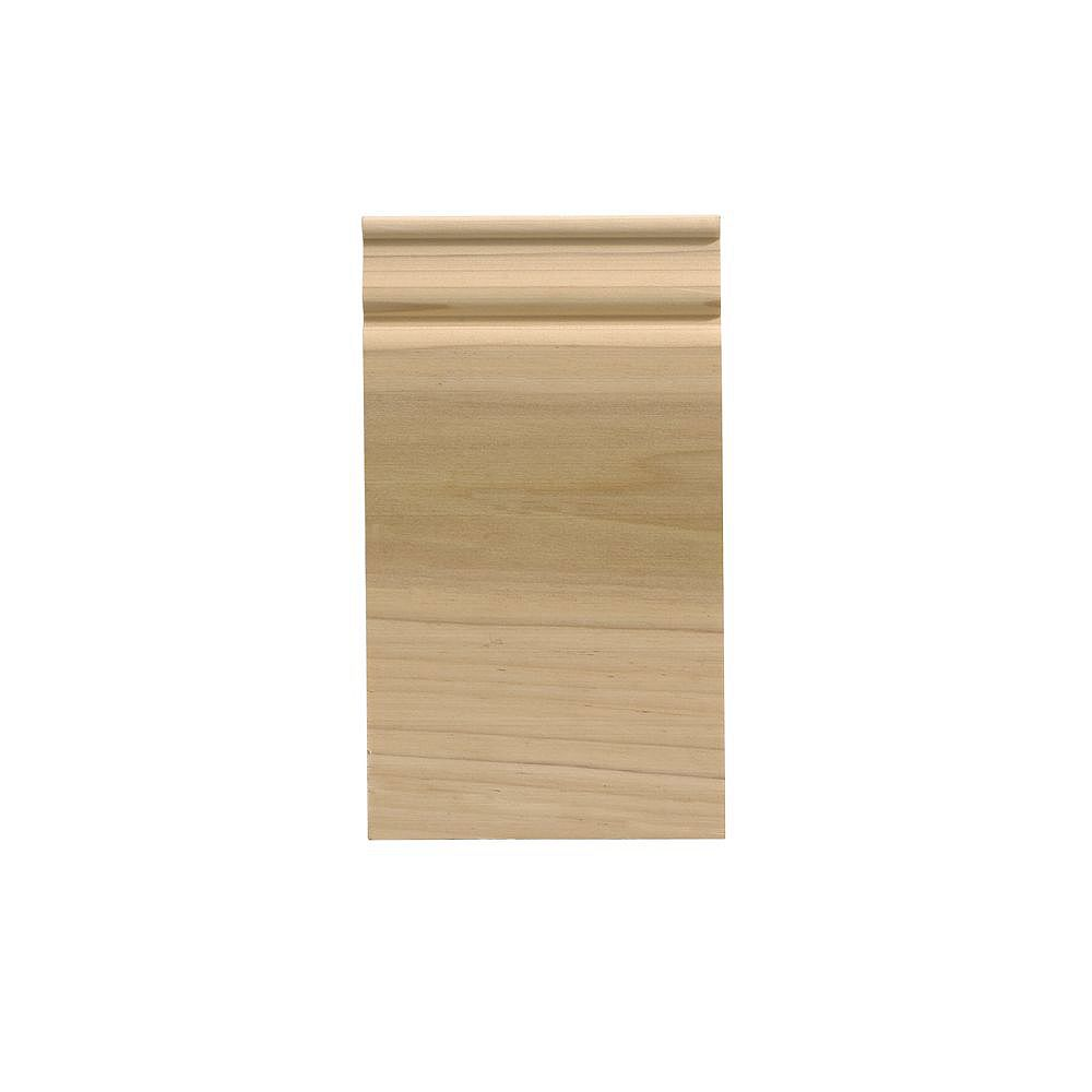 Ornamental Mouldings White Hardwood Colonial Plinth Block - 3-1/2 x 6-1/2 Inches