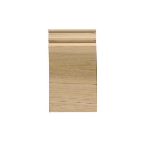 White Hardwood Colonial Plinth Block - 3-1/2 x 6-1/2 Inches
