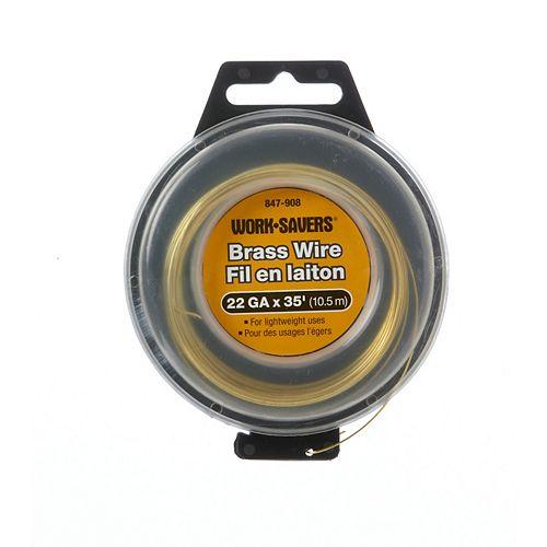 Brass Tie Wire-Coiled 22G X 10.4M