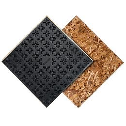 Subfloor membrane panel 23.25 inch x 23.25 inch