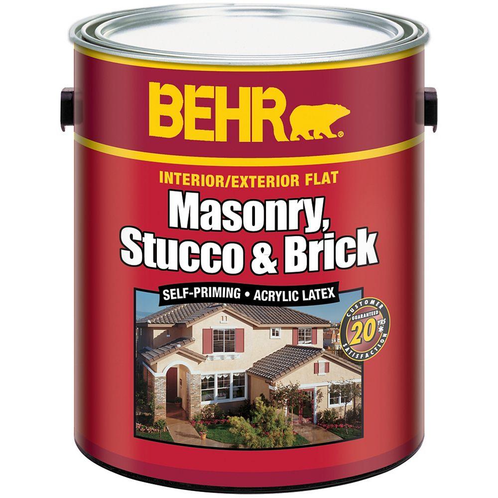BEHR BEHR Peinture pour maçonnerie, stuc & brique - Intérieur/extérieur - Base pastel, 3,61 L