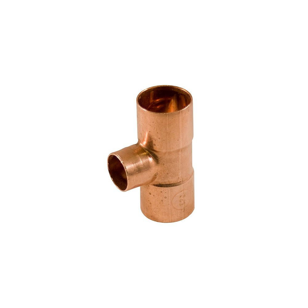 Aqua-Dynamic Fitting Copper Tee 1-inch x 1-inch x 3/4-inch Copper To Copper To Copper