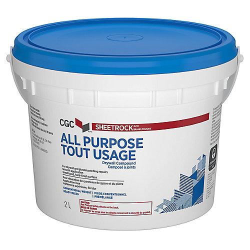 Composé tout usage pour cloisons sèches CGC, prêt à l'emploi, seau de 2 L