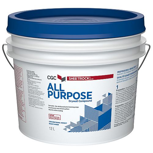 All Purpose Drywall Compound, Ready-Mixed, 12 L Pail