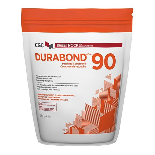 Durabond 90 Setting-Type Patching Compound, 2 kg Bag