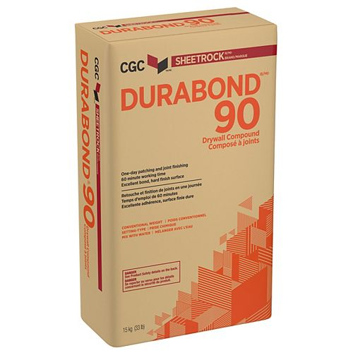 CGC DURABOND 90 Setting-Type Joint Compound, 15 kg Bag