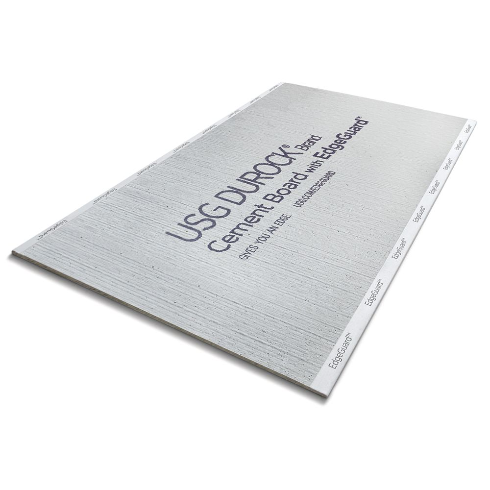 CGC Durock Cement Board with EdgeGuard 1/2 in. x 32 in. x 5 ft.