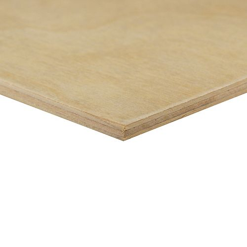 Alexandria Moulding 1/4 inch x 2 Feet x 4 Feet Birch Plywood Handy Panel