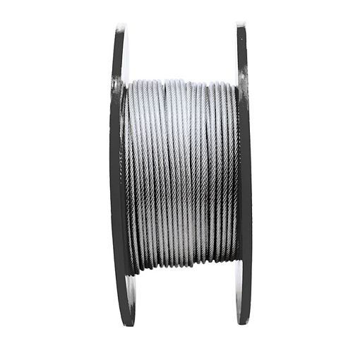 1/8 inch x 3/16 inch x 250ft. 7X7 Vinyl Coated Aircraft Cable - Per Foot