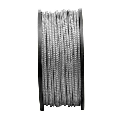 3/16 inch x 1/4 inch x 250ft. 7X7 Vinyl Coated Aircraft Cable - Per Foot