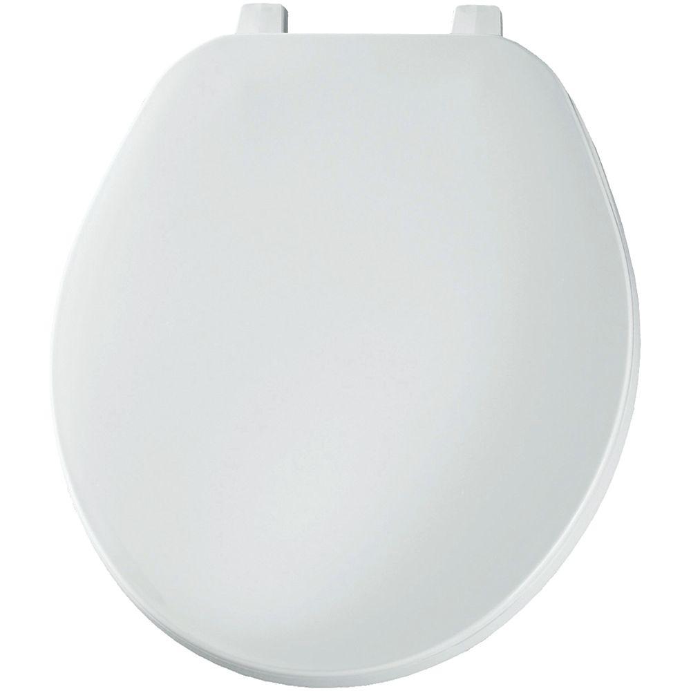 Bemis siège de toilette rond en plastique en blanc