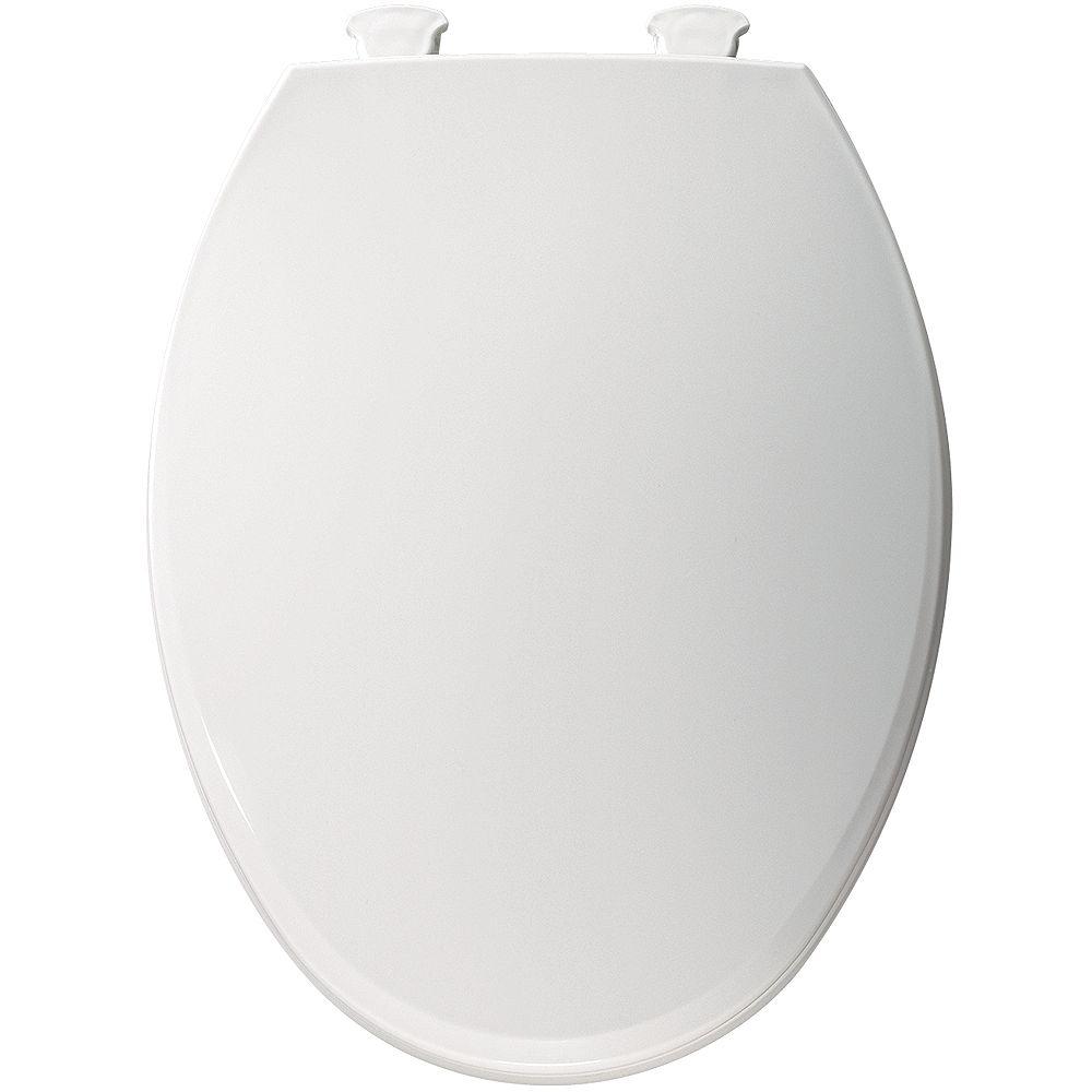 Bemis Siège de W.C. allongé en plastique avec charnière Easy Clean et Change en Blanc