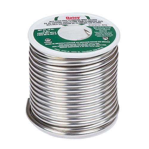 16 oz. 95/5 Lead Free Wire Solder