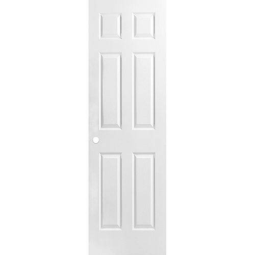24 x 80 x 1-3/8 6 Panneau de porte pré usiné