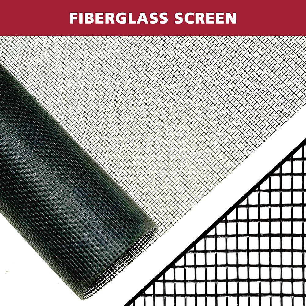 Everbilt 36 po x 84 po noir Moustiquaire en fibre de verre