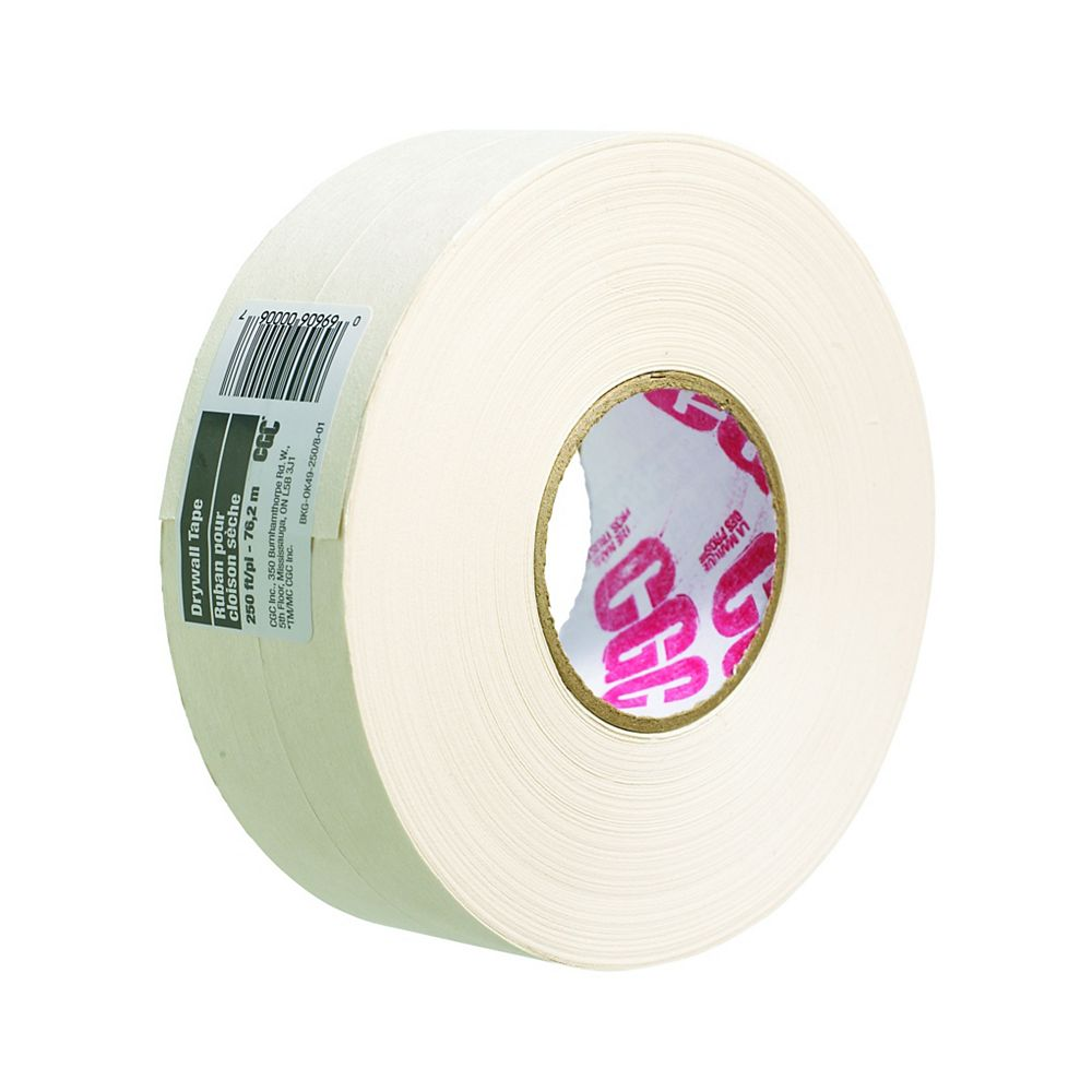 CGC Sheetrock Drywall Paper Joint Tape, 2-1/16 in. x 250 Ft. Roll