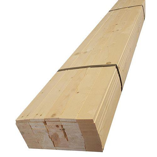 """3/8"""" x 1-1/2"""" x 48"""" Lattes de bois en EPS, extrémités droites, 50 pièces/paquet (3/8x1 1/2x48) (3x10)"""