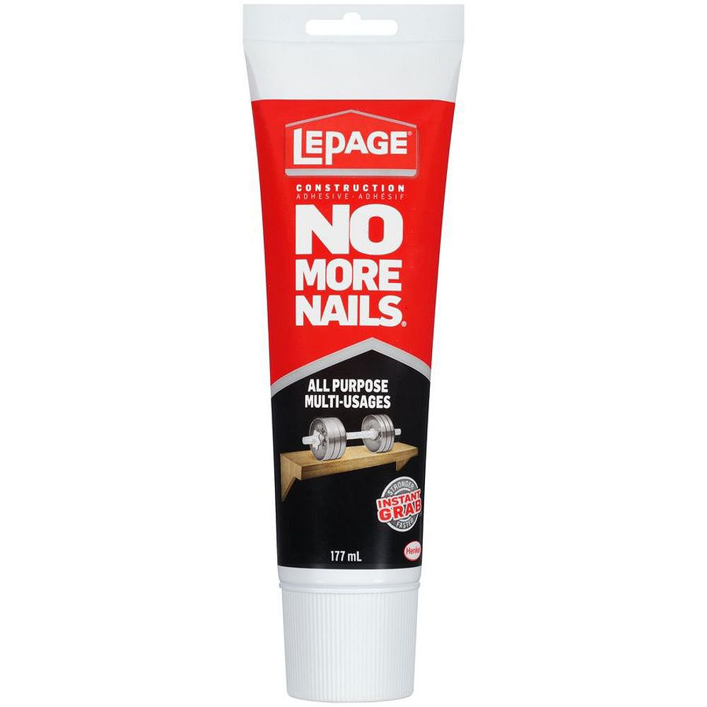LePage LePage No More Nails All Purpose Construction Adhesive, 177 ml