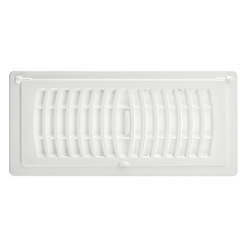 4 inch x 10 inch Pop-Up Register - White