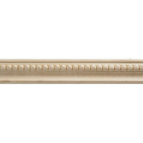 Moulure panneau en bois blanc dur de style colonial, gaufrée en perles 3/8 X 1-1/4 - prix par pièce 6 pied