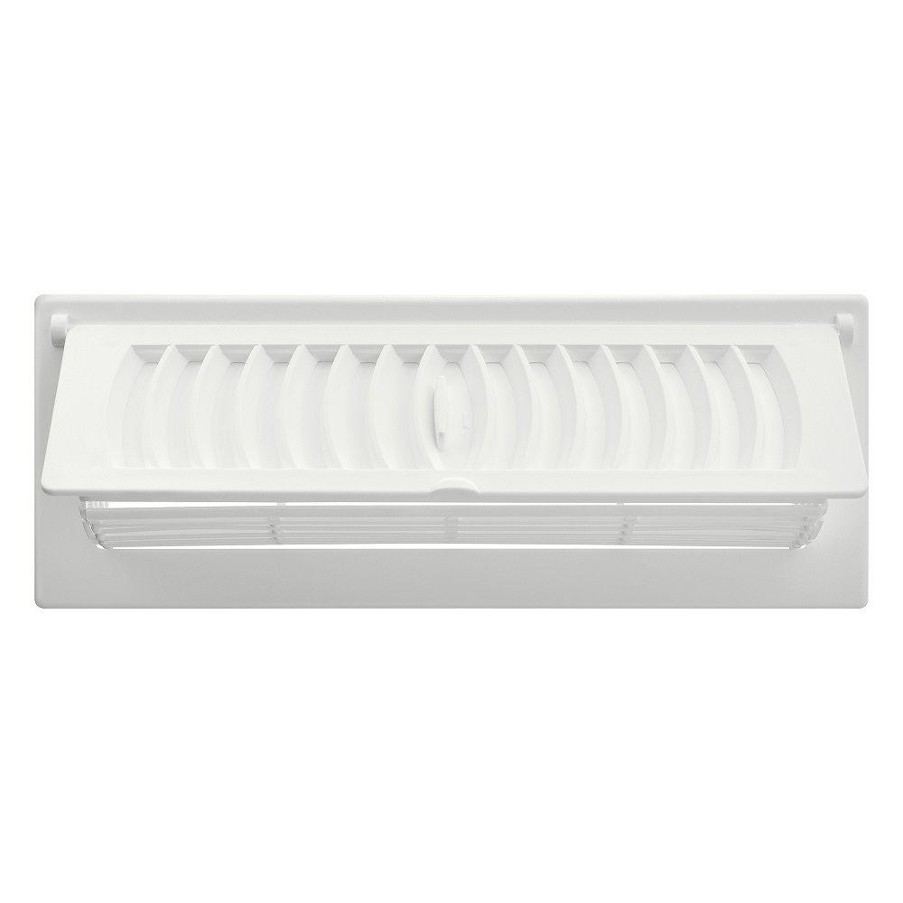 HDX 3 po x 10 po Registre avec déflecteur - Blanc