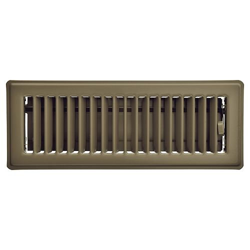 3 inch x 10 inch Floor Register - Taupe