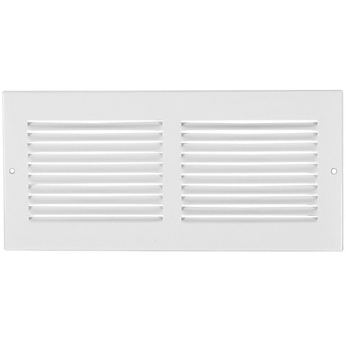 10 inch x 4 inch Sidewall Grille - White