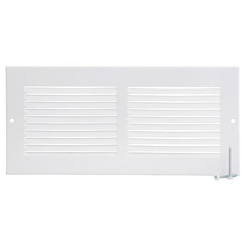 10 inch x 4 inch Sidewall Grille - White