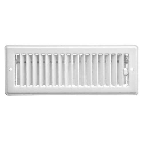 3 inch x 10 inch Ceiling Register - White